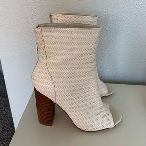 Forever 21  open toed heeled booties size 7